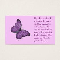 Fibromyalgia Personal card