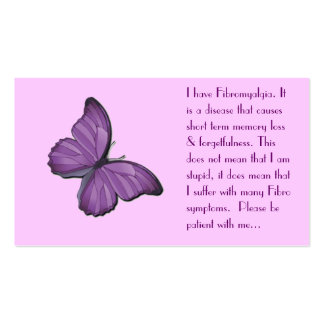 Fibromyalgia Personal card Double-Sided Standard Business Cards (Pack Of 100)