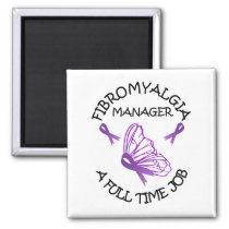 Fibromyalgia Purple Awareness Butterfly Ribbons Magnet