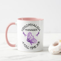 Fibromyalgia Purple Awareness Butterfly Ribbons Mug