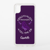 Fibromyalgia Purple Awareness Butterfly Ribbons Speck iPhone XS Max Case