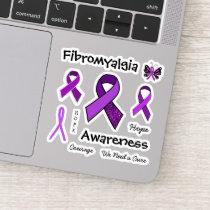 Fibromyalgia Purple Awareness Ribbons Sticker