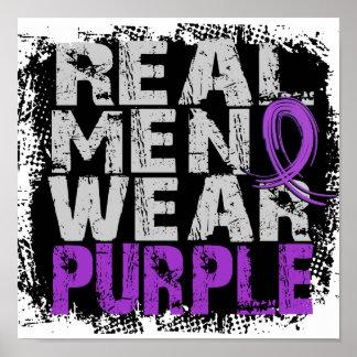 Fibromyalgia Real Men Wear Purple Poster