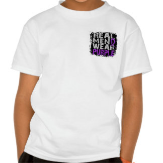 Fibromyalgia Real Men Wear Purple Tshirts