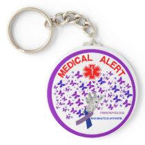 Fibromyalgia  Rheumatoid Arthritus Medical Alert Keychain