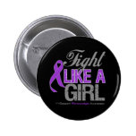 Fibromyalgia Ribbon - Fight Like a Girl Buttons