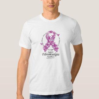 Fibromyalgia Ribbon of Butterflies T Shirt