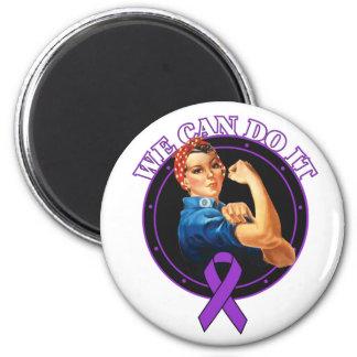 Fibromyalgia - Rosie el remachador - podemos hacer Imán Redondo 5 Cm