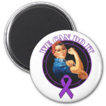 Fibromyalgia - Rosie The Riveter - We Can Do It Refrigerator Magnet