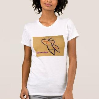 Fibromyalgia Sayings T-Shirt-Butterfly Design T-Shirt