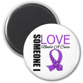 Fibromyalgia Someone I Love Needs A Cure 2 Inch Round Magnet