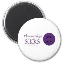Fibromyalgia Sucks 2 Inch Round Magnet