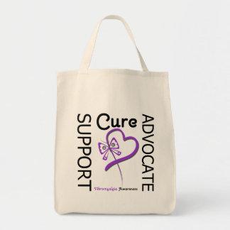 Fibromyalgia Support Advocate Cure Tote Bag