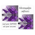 Fibromyalgia  Support not Sarcasm Postcard