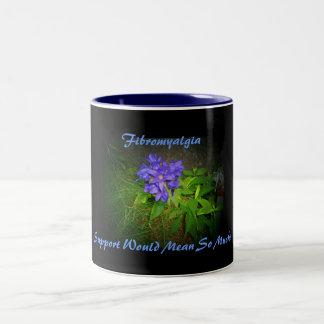 Fibromyalgia, Support Would Mean...Mug Two-Tone Coffee Mug