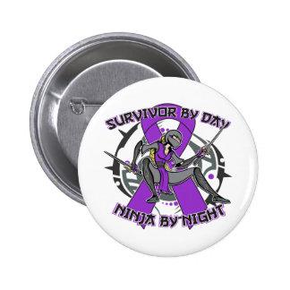 Fibromyalgia Survivor By Day Ninja By Night Button