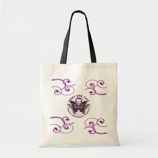 Fibromyalgia Swirls Awareness Tote Bag