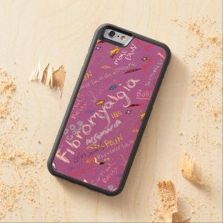 Fibromyalgia Symptoms Carved Maple iPhone 6 Bumper Case