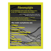 fibromyalgia symptoms poster