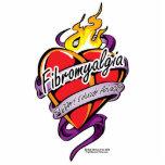 Fibromyalgia Tattoo Heart Acrylic Cut Outs