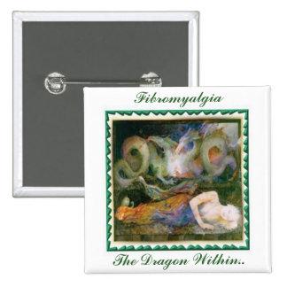 Fibromyalgia, The Dragon Within... Pinback Button