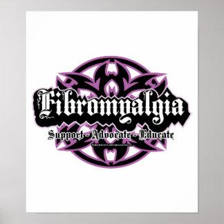 Fibromyalgia Tribal Poster