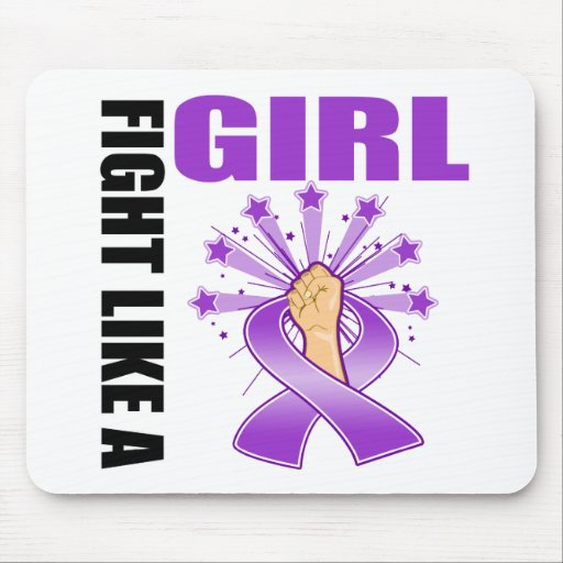 Fibromyalgia Victory Fight Like A Girl Mouse Pad