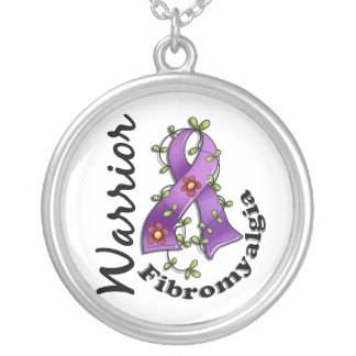 Fibromyalgia Warrior 15 Silver Plated Necklace