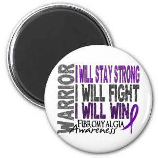 Fibromyalgia Warrior 2 Inch Round Magnet