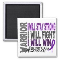 Fibromyalgia Warrior 2 Inch Square Magnet