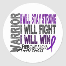 Fibromyalgia Warrior Classic Round Sticker