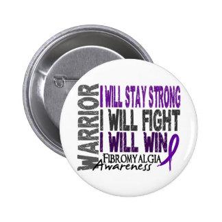 Fibromyalgia Warrior Pinback Button