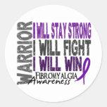 Fibromyalgia Warrior Sticker