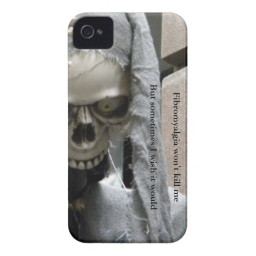 Fibromyalgia won't kill me,  But sometimes... iPhone 4 Covers