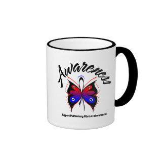 Fibrosis pulmonar de la mariposa de la CONCIENCIA Tazas