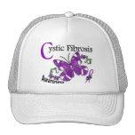 Fibrosis quística de la mariposa 2 del vitral gorros bordados