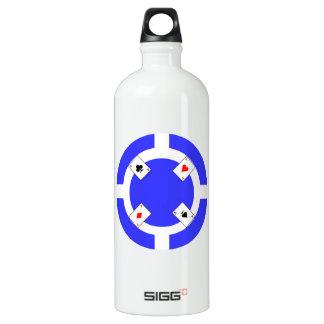 Ficha de póker - azul botella de agua