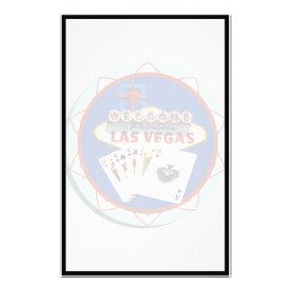 Ficha de póker azul del signo positivo de Las Vega Papeleria