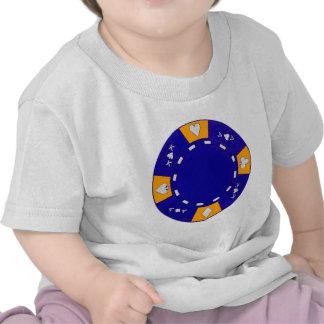 Ficha de póker azul camisetas