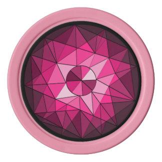 Ficha de póker de la joya del rosa del diamante fichas de póquer