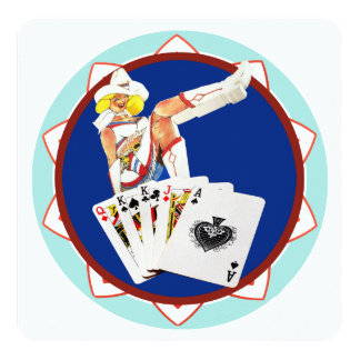 "Ficha de póker de Las Vegas galón Invitación 5.25"" X 5.25"""