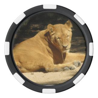 Ficha de póker del león fichas de póquer