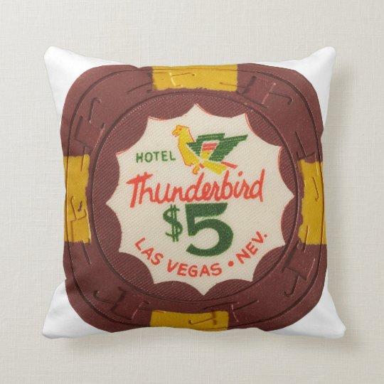Ficha de póker Las Vegas de Thunderbird Cojín Decorativo