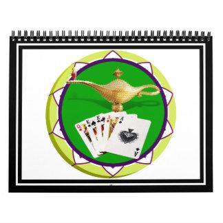 Ficha de póker mágica de la lámpara de Las Vegas Calendarios