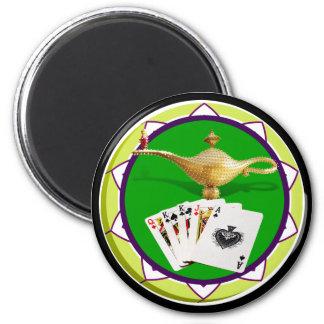 Ficha de póker mágica de la lámpara de Las Vegas Imán Redondo 5 Cm