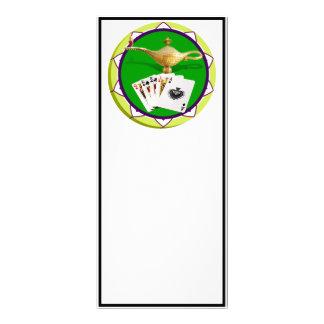 Ficha de póker mágica de la lámpara de Las Vegas Plantilla De Lona