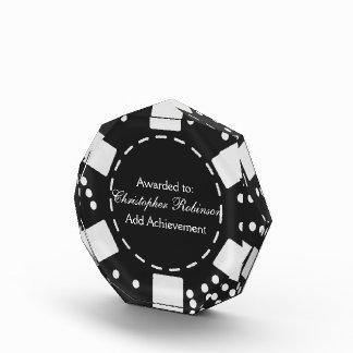 Ficha de póker negra