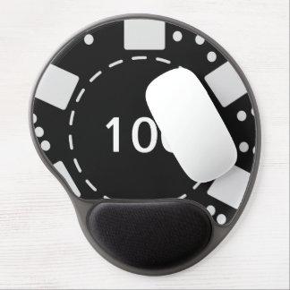 Ficha de póker negra alfombrillas con gel