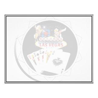 """Ficha de póker negra del signo positivo folleto 8.5"""" x 11"""""""