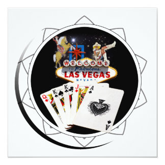 """Ficha de póker negra del signo positivo invitación 5.25"""" x 5.25"""""""